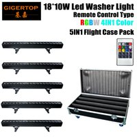 Wholesale Led Strip Light Pack - 5IN1 Roadcase Pack 18 x 4in1 Non Waterproof Led Wall Washer Light Silent Work RGBW Architecture LED Wall Washer Strip Bar Light TP-W1810