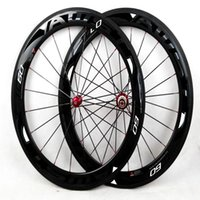 Wholesale Carbon Wheelset China - Hot selling AWST 60mm carbon wheels balck color with 3k glossy road carbon wheelset racing bike carbon fiber wheels made in china