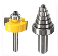 """Wholesale Wood Parting Tool - 2016 New Rabbet Router Bit with 7 Bearings Set -1 2""""H - 1 4"""" Shank Suitable For solid wood Particle Board Hand Tools"""