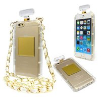 Wholesale Iphone 4s Case Handbag - TPU Chain Luxury Perfume Bottles Case Cover For Apple Iphone 7 7Plus 6 6S 6Plus 6SPlus 5 5S 5C SE 4 4S