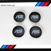 4 pz = 1 set / 60mm Refit Ford RS logo decal wheel centro hub caps adesivi adesivi Car styling Spedizione gratuita