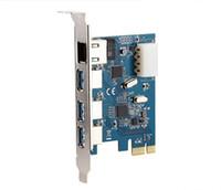 Wholesale Pci Gigabit Network Card - PCI-e to External 3 ports USB 3.0+ RJ45 Gigabit Ethernet Network card USB3.0 + 1000M LAN Combo PCI express card