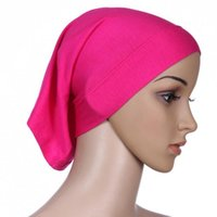 Wholesale Women S Head Scarves - Wholesale- Various Colour Women\'s Under Scarf Hijab Tube Bonnet Cap Bone Islamic Head Cover