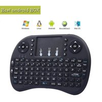 Rii i8 Remote Fly Air Mouse Wireless 2.4G мини-клавиатура с сенсорной панелью для MXQ MXIII MX3 M8 CS918 M8S Bluetooth TV BOX Black 10pcs