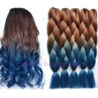 "Wholesale Multicolor Hair Extensions - 24""Multicolor Jumbo Braids Crochet Hair Black&Purple&Light pink Extensions Synthetic Ombre Braiding Hair Bundles Crochet Braids 100g 1pc"