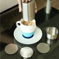 Wholesale Chocolate Dispenser - Cappuccino Latte Art Tool Cocoa Powder Dispenser Tank  Mould Chocolate Shaker Duster + Cappuccino Coffee Barista Stencils Coffee Tool Set