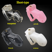 Wholesale Chastity Device Bondage - super short type male chastity cage device penis lock cock cages bdsm bondage devices men sex products for dick locking CP-A238