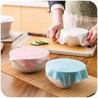 Wholesale Modern Kitchen Gadgets - Wholesale- Cute Cartoon Multi-function Silicone Sealing Bowl Cover Preservation Tableware Cover Gadget Kitchen Accessories Free Shipping