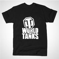 Wholesale Manufacturing Longing - Wholesale- 2015 summer style Funny World Of Tanks T Shirt men Manufacture World War ii Tank T-SHIRT Men Plus Short-sleeve Top Tees