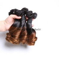 Wholesale Wholesale Hair Nigeria - 3pcs lot Aunty Funmi Hair Romance curl for UK Nigeria ombre 1B 4 double weft funmi hair 100g pc two tone color hair free ship
