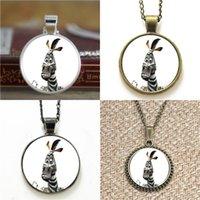 zebra halskette anhänger großhandel-10pcs Comic Zebra Anhänger Halskette Schlüsselanhänger Lesezeichen Manschettenknopf Ohrring Armband
