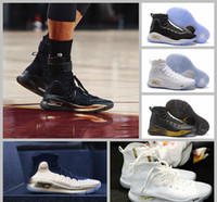 Wholesale 2017 Steph Curry Parade Away Black And Ice White Basketball Shoes For Men Currys Fashion Brand Basket Ball Sports Sneakers US7