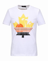 Wholesale Hot Selling Summer Fashion - 2017 Summer New Hot Sell Men's Round Neck T-Shirt Short Sleeve Cotton Jersery DSQ2 Tee Shirt Men's Print V-neck Tops Shirts 18992~18999