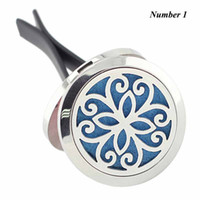 Wholesale 316 stainless steel magnetic lockets - New arrival 30mm Silver Round Magnetic Car Amoratherapy Diffuser Locket 316 Stainless Steel Car Perfume Lockets Jewelry
