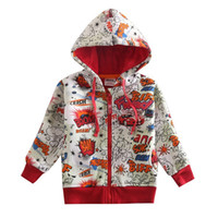 Wholesale Nova Baby Clothes For Winter - Nova kids clothing children boys zipper coat with letters and cloudies printed baby boys autumn hoodies jacket for boys