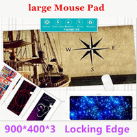 Wholesale Red Computer Mouse Pad - Super Locking Edge large Game Mouse Pad 900*400*3and 600*450*3 high quality DIY pictures super big size computer game tablet mouse pad