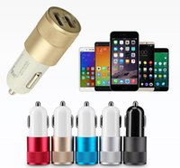 Wholesale Blackberry Car Chargers - Dual USB Port Car Charger Universal 12V-24V For Apple iPhone iPad iPod Samsung Galaxy Motorola Sony Blackberry Nokia HTC Huawei Xiaomi