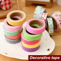 Wholesale Cotton Masking Tape - 36 pcs Lot Cotton Adhesive tape Decorative Flower design sticky masking tape Stationery scrapbooking School supplies 2016