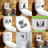 Wholesale toilet seat decal sticker for sale - Group buy Mixed styles Bathroom Waterproof Toilet Seat Wall Stickers decorative wall decals Home Décor