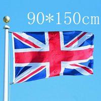 Wholesale Britain Flags - 90cmx150cm United Kingdom National Flag Britain UK British England English Hanging Polyester Flags Festival Home Decoration