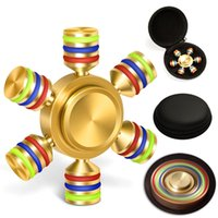 Wholesale Stainless Steel Hexagon - Hexagon Fidget Spinner Toys with Premium Stainless Steel Bearing 2+ Min Spin Time Brass 6 Stick Hand Spinner for Autism Adult ADHD Relief