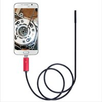 Wholesale Endoscope For Cars - Wholesale-1M 2M 3.5M 7MM Android Endoscope IP67 Waterproof 6LED Micro USB Inspection Tube Video Camera For Phone windows pc Check Car