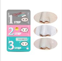 Wholesale Free Sticker Sheets - Free DHL Holika Pig Nose Clear Black Head Perfect Sticker 3 steps Clear Black Head Mask Blackhead Remover