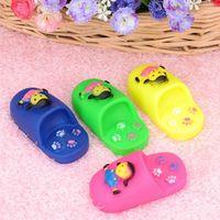 Wholesale Cat Shaped Shoes - Pink Blue Shoes Shape Pet Toy Dog Chew Elastic Toys Soft Plastic Pet Cat Sound Educational Toys Mini Rubber Chew M Size 20PCS
