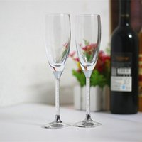 Wholesale Flute Sales - fashion hot sales crystal wedding glasses toasting wine glasses lovers gifts champagne flutes stemware glasses for home and party