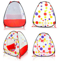 Wholesale Kids Large Indoor Tents - Wholesale-Baby Play Tent Child Kids Indoor Outdoor House Large Portable Ocean Balls Great Gift games play