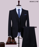 больше мужских костюмов оптовых-2017 новый жених смокинги королевский синий Groomsmen на заказ сбоку лучший мужской костюм свадебные / мужские костюмы жених (куртка + брюки + жилет + больше подарков)