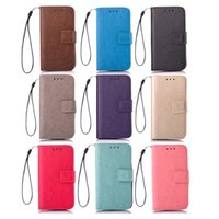 Wholesale Free Shelter - Best quality cellphone cases PU leather mobile phone Wallet Case 360 degree protection shelter business bank card holder dhl free shipping