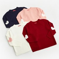 Wholesale Korean Fashion For Winter - Wholesale- 2017 Women'S Harajuku Fashion Autumn Winter Korean Love Heart Sweaters Female Cute Thick Warm Knitted Pullover For Women