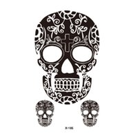 Wholesale Temporary Tattoo Chest - Wholesale-2016 Sexy Arm Shoulder Chest Tattoo Art Skull Pattern Fake Tattoo Stickers Waterproof Temporary Tattoo Stickers X-186