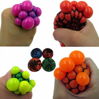 Wholesale Mesh Squeeze Ball - free shpping 2017 neew Kids Children Squishy Mesh Ball Grape Mood Squeeze Relief Autism Mood Relief Toy CT20170802