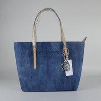 Wholesale Blue Jean Bag - Free Shippiing - good quality women new 2017 solid color blue jean letter shoulder bag handbag