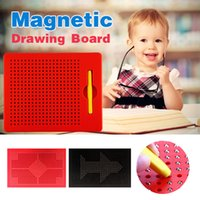 Wholesale Magnetic Writing Board Toy - Magnetic Tablet Magnet Pad Drawing Board With Steel Bead Magnet Stylus Pen For Kids Learning Educational Writing Board Funny Toy