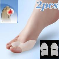 Wholesale gel bunion toe spreader - Toe Hallux Valgus Corrector Silicone Gel Spreader Feet Care Toe separator Bunion Guard Toe Stretcher Straightener