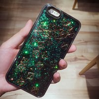 Wholesale Korea Phones - New Korea For iphone7   6s Silicone Phone Case Flash Powder Liquid Flow Sand Frame Soft Back Hard All-inclusive Case via Free Shipping