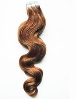 """Wholesale Brown Skin Light Hair - Wholesale Price 18""""-24"""" 100g 40pcs Glue Skin Weft PU Tape In Human Hair Tape Indian Remy Human Hair Extensions"""