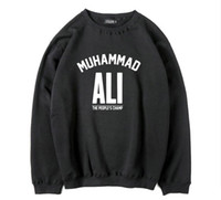 Wholesale Thick Warm Fleeces Mens - Mens Thick Fleece warm men muhammad ali printed o-neck sweatshirt men fashion Cotton Blend cool men hoodie