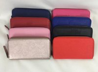 Wholesale Story Pillow - 2017 High-quality two-story leather wallets European-style brand purse designer fashion zipper hand wallet multiple colors optional AAA
