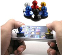 Wholesale Handle Touch - Hot Mini Game Handle Control Mobile Joystick Mobile Phone Physical Game Joystick Fling Touch Screen Rocker for Pads HCT Samsung Smart Phones