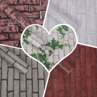Wholesale Dining Stickers - Wholesale- DIY Europe Imitation Brick Style PVC Adhesive Waterproof Wall Paper Dining-room Background Wall Sticker Parlor Mural