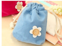 Wholesale National Fabrics - Free shipping-2017 candy color flower coin purses wallets holders