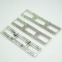 20pcs Rectangle Curto Crystal Rhinestone Trim Bikini Conectores Buckle Metal Chain For Swimming Wear Bikini Decoration