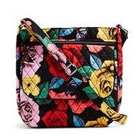 Wholesale Rose Zip - VB Double Zip Mailbag, Havana Rose Crossbody Shoulder Flower Crossbody Bag Shoulder Bag Purse Satchel Messenger