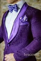 les costumes masculins dessiné des images achat en gros de-2017 Marque Rouge Hommes Floral Blazer Designs Hommes Paisley Blazer Slim Fit Costume Veste Hommes De Mariage Tuxedos De Mode Masculin Costumes (Veste + Pantalon)