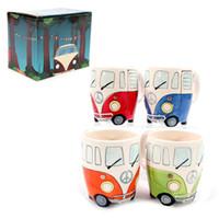 vw cup großhandel-NEW Camper Van Tasse VOLKSWAGEN VW Keramiktassen Puckator Geschenk für Porzellantassen Cartoon-Auto Kinder für Milch, Kaffee, Tee