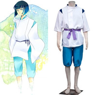 Wholesale custom cosplay outfits - Sprited away Haku outfit Cosplay Costumes